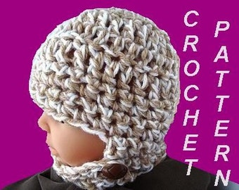crochet pattern HAT, CHILD'S BALACLAVA,   number 224,  Unisex Children Size Newborn to Age 16..... Permission to sell your finished hats