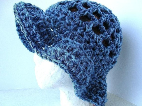 hat, CROCHET PATTERN..number 27..Children to Adult ,  headband sizes 18 to 22 inches,.... fits 1 yr to adult