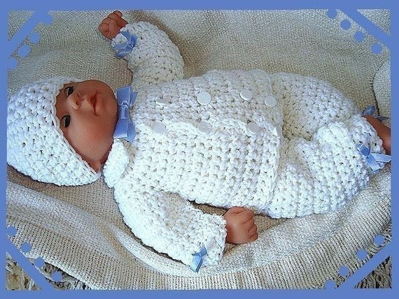 Crochet Pattern Boy Baby Num 226 Double Breasted By Hectanooga