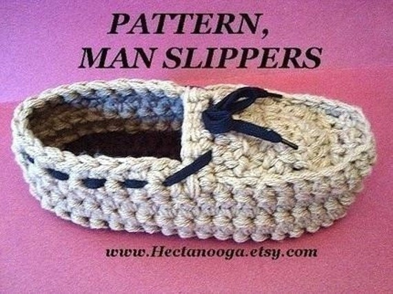 Crochet Patterns For Men Slippers Crochet Slippers Pattern