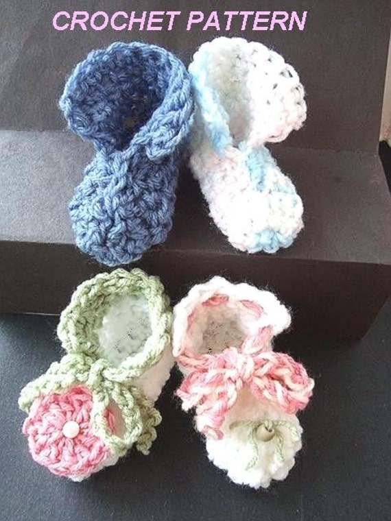 Crochet Easy Beginner Patterns : CROCHET PATTERN No. 124 Easy Beginner Booties by Hectanooga