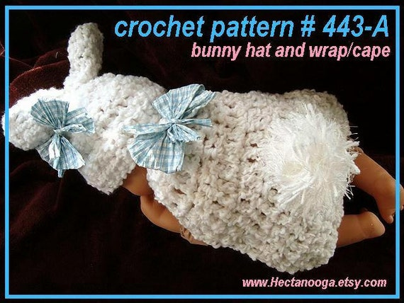 Crochet Patterns For Baby Washcloths : Baby Bunny Photo Prop CROCHET PATTERN Crochet Baby Wrap
