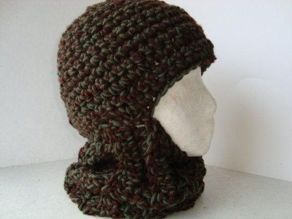 Chunky Balaclava Knitting Pattern : CROCHET PATTERN...... BALACLAVA.... ADULT SIZE.. CHUNKY KNIT