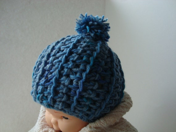 CROCHET PATTERN UNISEX CHUNKY BABY BEANIE. Sizes Newborn to