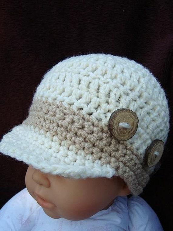 Crochet Pattern Newsboy Cap Size 6 To 12 Months One