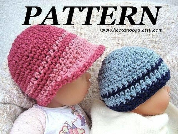 TODDLER SIZE CROCHET PATTERN..number 168.. 2 TONE BEANIE VISOR, BOY OR GIRL, SIZE 2 TO 4