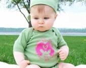 organic baby Love and Bliss onesie