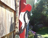Redheaded Woodpecker Doorknocker Maine Woodland Cottage Chic Home Decor