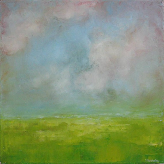 12x12 inch Landscape- abstract oil painting