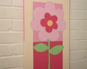 12x24 flower/ add name READY TO SHIP
