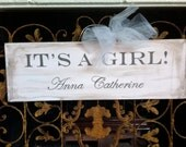 8x24 It's a girl sign