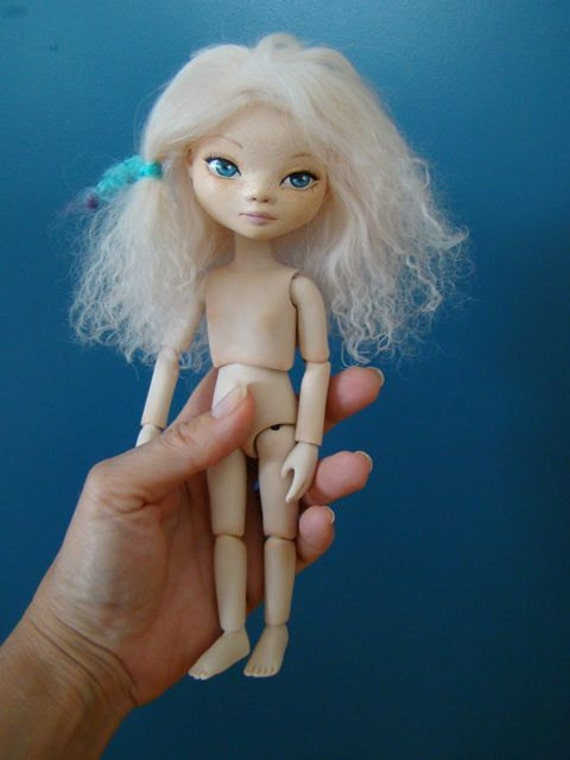 OOAK Ball Jointed doll - Hand-sculpted BJD- Colette 8.5 inches