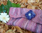 PINK FELTED CLUTCH
