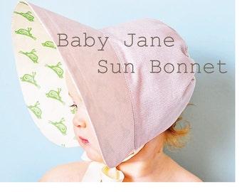 Baby Jane Sun Bonnet PDF Pattern
