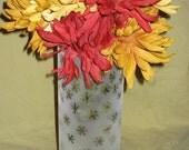 Large Cylinder  Frosted Snowflake Vase\/Candleholder
