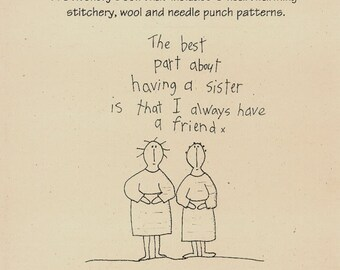Primitive Stitchery Patterns Wool and Needle Punch Patterns The Sisters Book  OFG Team