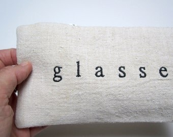 SALE glasses case with zipper