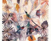 Hummingbirds and Joshua Tree- Archival Print