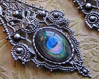 Huge Gothic Peacock Earrings