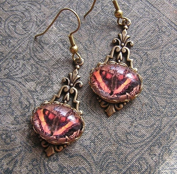 Victorian Butterfly Earrings