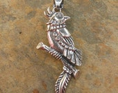 Sterling Silver Pheasant Bird Pendant
