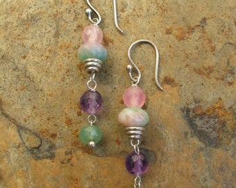Artisan Handcrafted Beaded Gemstone Earrings