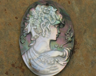 Mother of Pearl Cameo Pendant