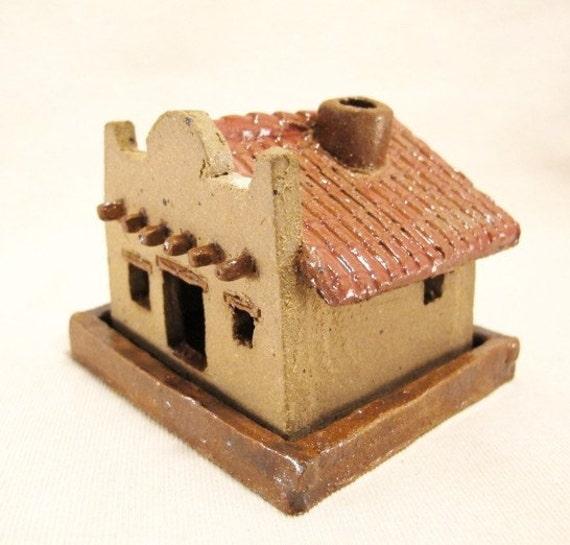 Ceramic Little Old Southwestern Adobe Building