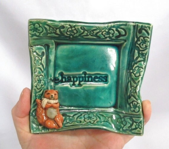 Wall Hanging Decor for Home - Ceramic Little Happiness Play With Squirrel Friend