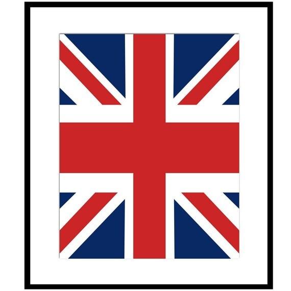 Union Jack Flag 8x10 Classic British Print CHOOSE by Tessyla