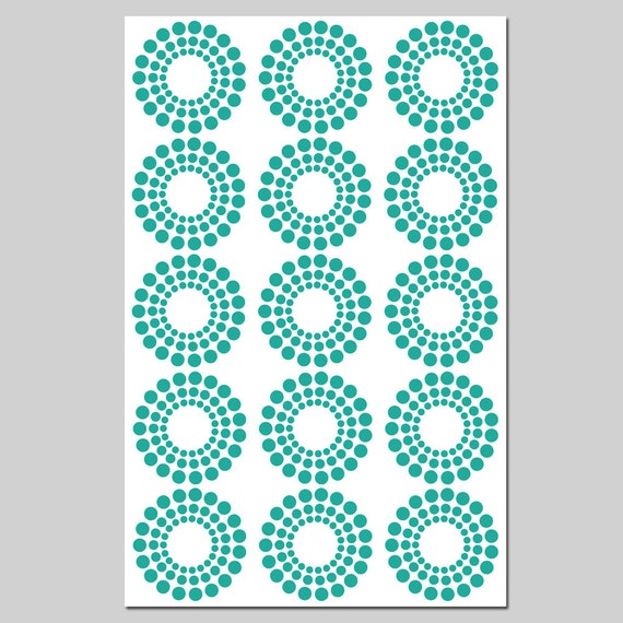 Modern Geometric - 11x17 Large Print - Original Design - CHOOSE YOUR COLORS - Shown in Turquoise Green and White
