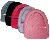 Infant Head and Neck Support Pillow for Baby Car Seat - Soft Infant Car Seat Head Support Insert - You Choose Minky Color