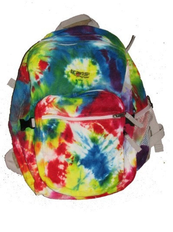 rainbow tie dye trans by jansport backpack