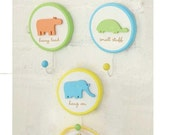 Animal Party Wall Hooks- Set of 3