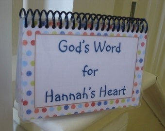 God's Word for a Teen's Heart - PERSONALIZED set, Spiral-Bound, Laminated Bible Verse Cards