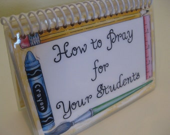 How to Pray for Your Students, Spiral-Bound, Laminated Prayer Cards