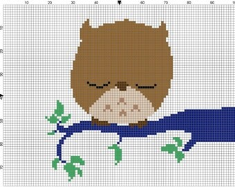 The Owl Cross Stitch Pattern - Professional Pattern Designer and Artist Collaboration