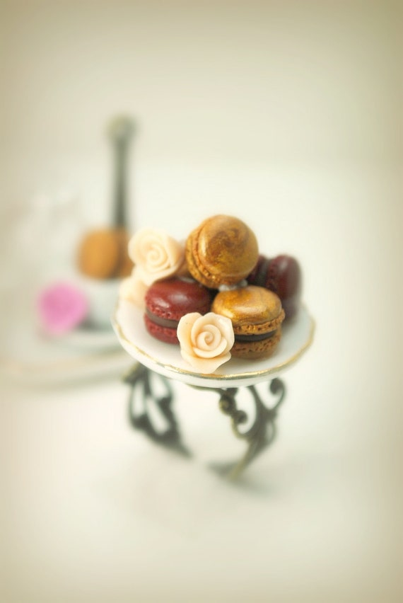 Those Classy French Macaroons Ring in Polymer Clay Food Jewelry