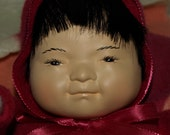 Alaska Blanket Puppet Ceramic Doll