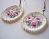 Spring Beauty - Vintage Lace Earrings