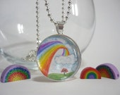 Rainbow Handpainted Necklace