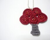 Little Red Tree Necklace