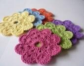 Flower Crochet Coasters - Set of 4