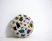 Sun - Crochet Lace Glass Marble