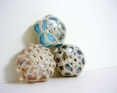 Trio - Crochet Lace Glass Marbles