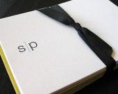 in between monogram notecards