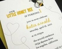 little honey bee invitation