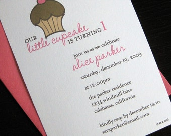 little cupcake invitation