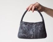 Small Felted Handbag in Grey Tones - Elegant Bag for a Special Woman - ready to ship