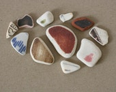Beach Pottery - 11 Pieces